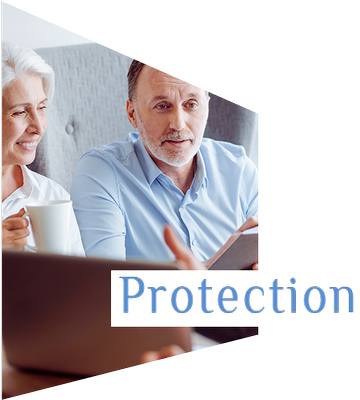 Mortgage Advisor in Birmingham and Wolverhampton. Protection. Mature couple get insurance.